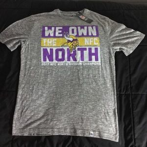 Majestic Minnesota Vikings We Own The North Tee
